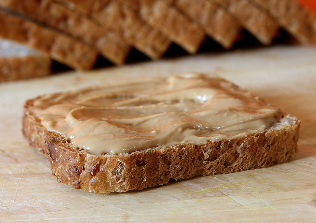 testing homemade peanut butter
