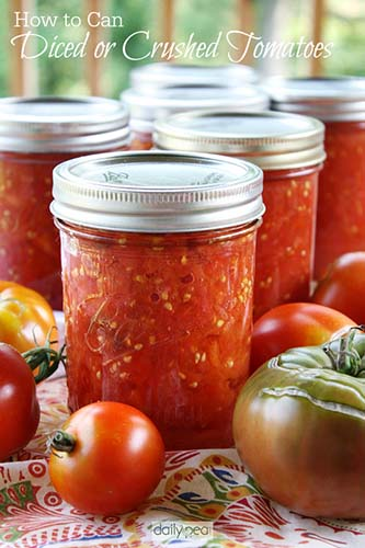 Tomatoes are the best for canning recipes