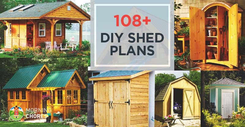 108 Free DIY Shed Plans & Ideas You Can Actually Build in
