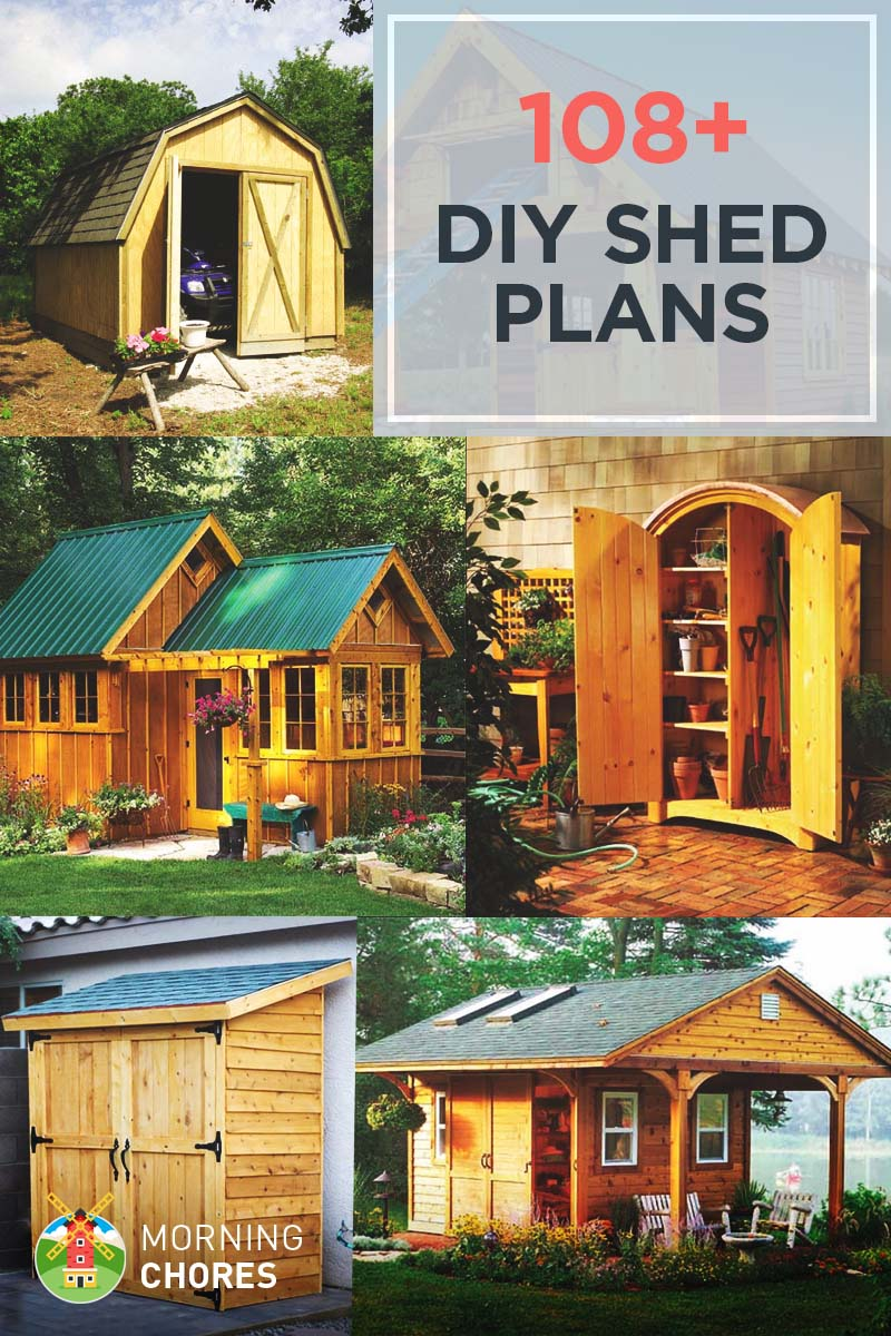 108 diy shed plans with detailed step by step tutorials free for Well shed plans