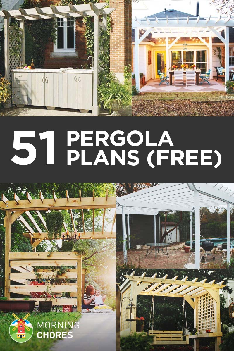 51 diy pergola plans ideas you can build in your garden free. Black Bedroom Furniture Sets. Home Design Ideas