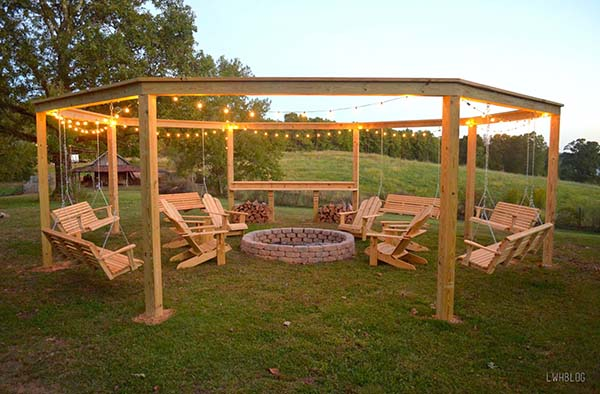 This Pergola Has Everything You Could Ever Want It Is A Rounded Shape Where Swings Can Actually Hang From The Structure