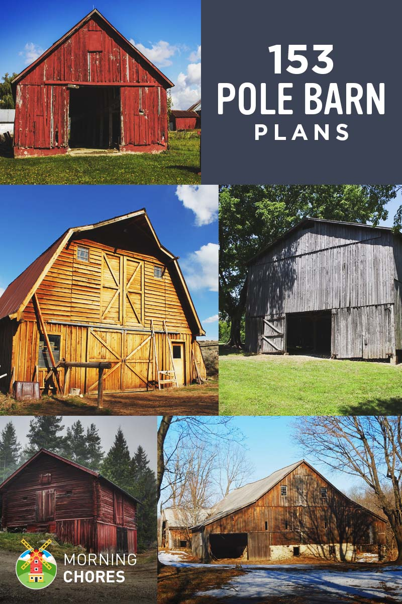 153 pole barn plans and designs that you can actually build for Garage barn plans