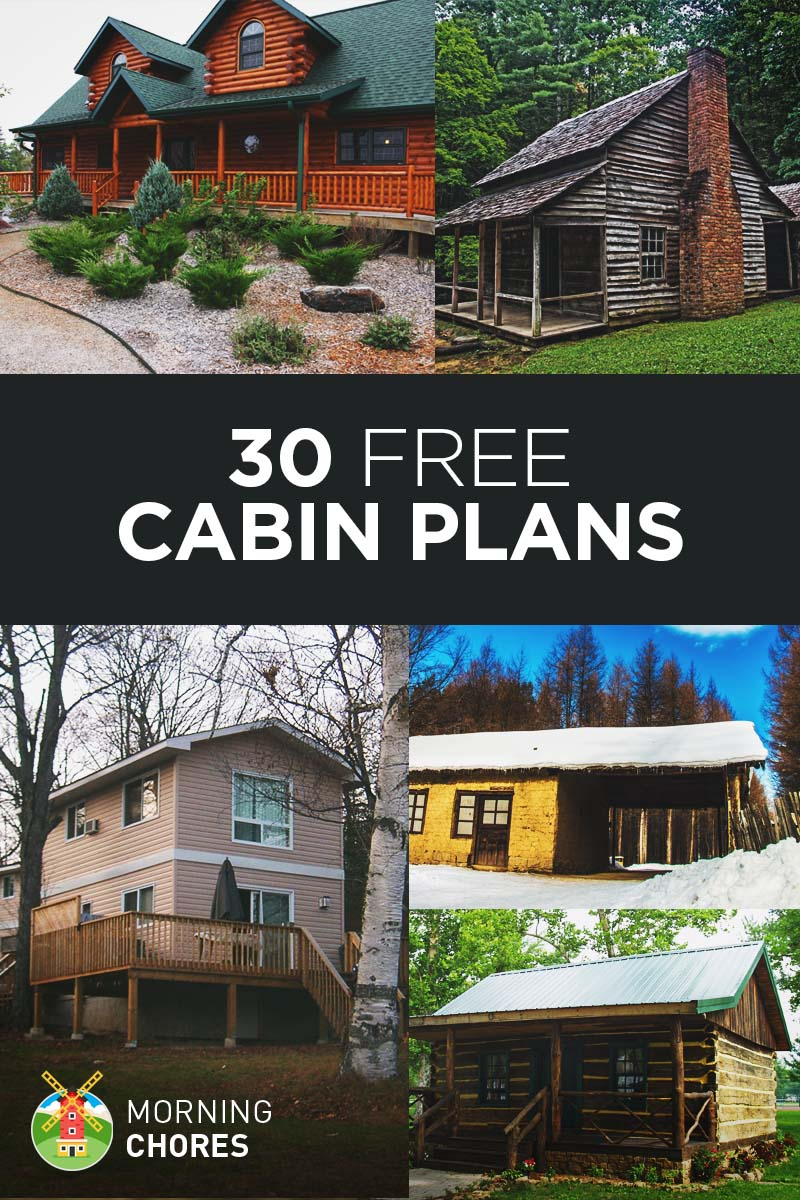 27 beautiful diy cabin plans you can actually build for Log house plans free