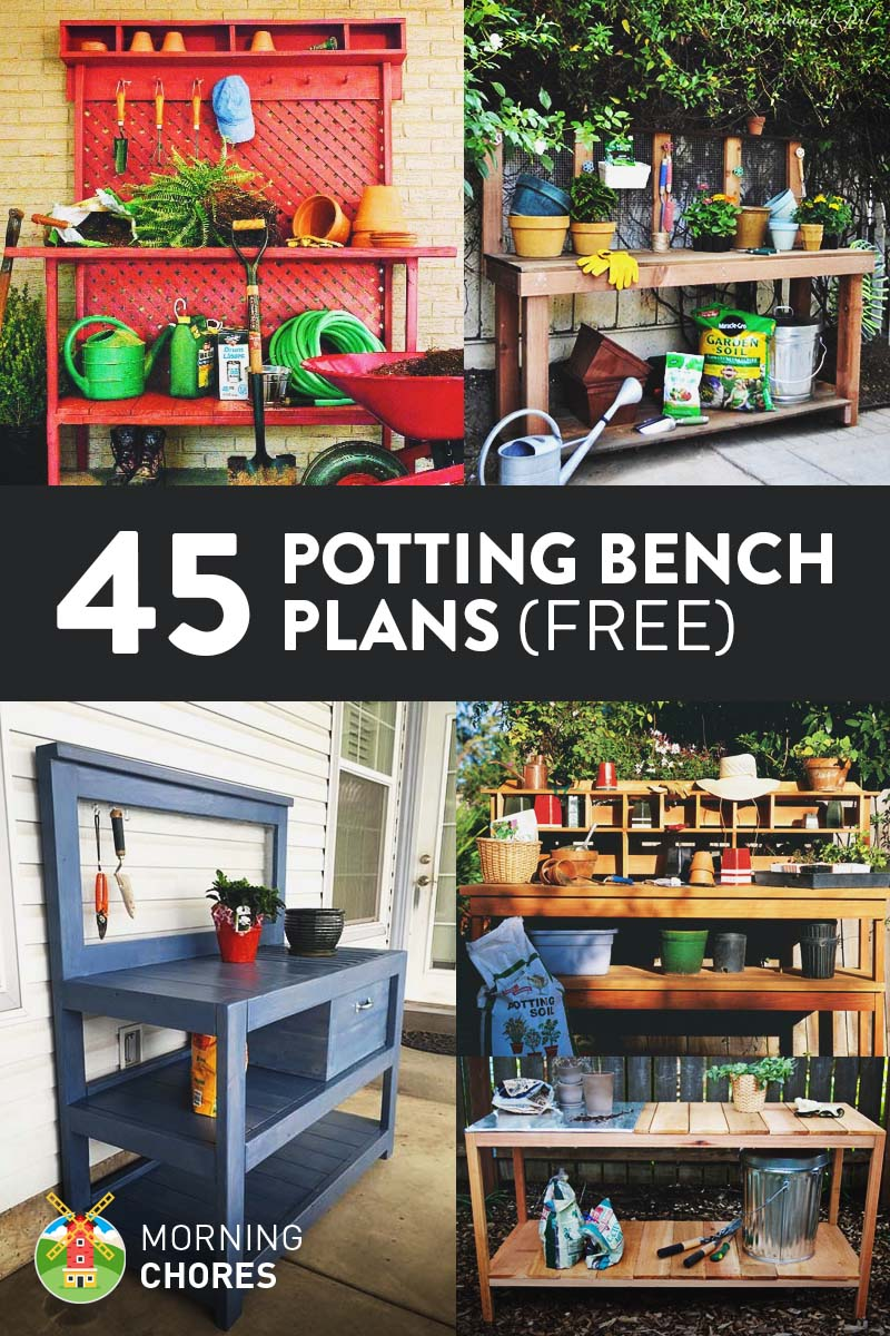45 Diy Potting Bench Plans That Will Make Planting Easier