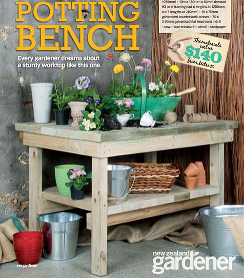 This Potting Bench Is Broken Down Into A Very Simple Form I Love The Directions Because It Makes Building Piece Easy Even For Those Less Experienced
