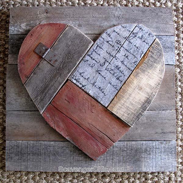 Pallet Heart