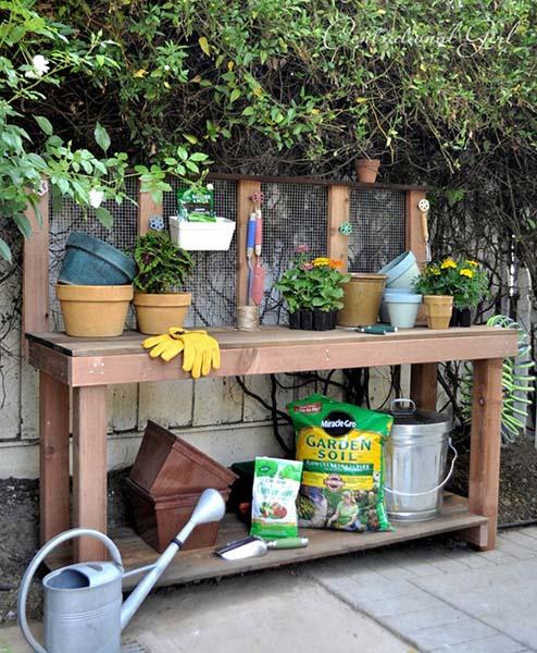 Phenomenal 45 Diy Potting Bench Plans That Will Make Planting Easier Free Ibusinesslaw Wood Chair Design Ideas Ibusinesslaworg