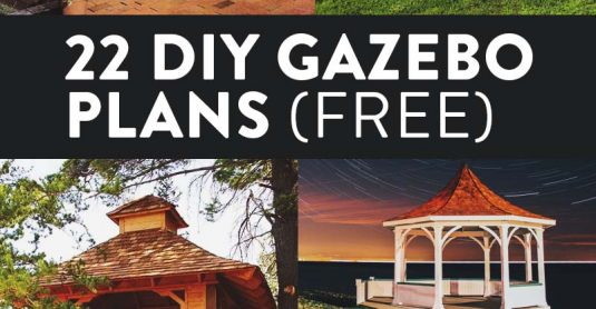 22 Free DIY Gazebo Plans & Ideas to Build with Step-by-Step