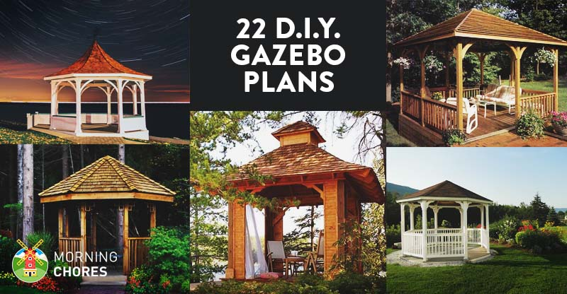 22 Free DIY Gazebo Plans & Ideas to Build with Step-by-Step Tutorials