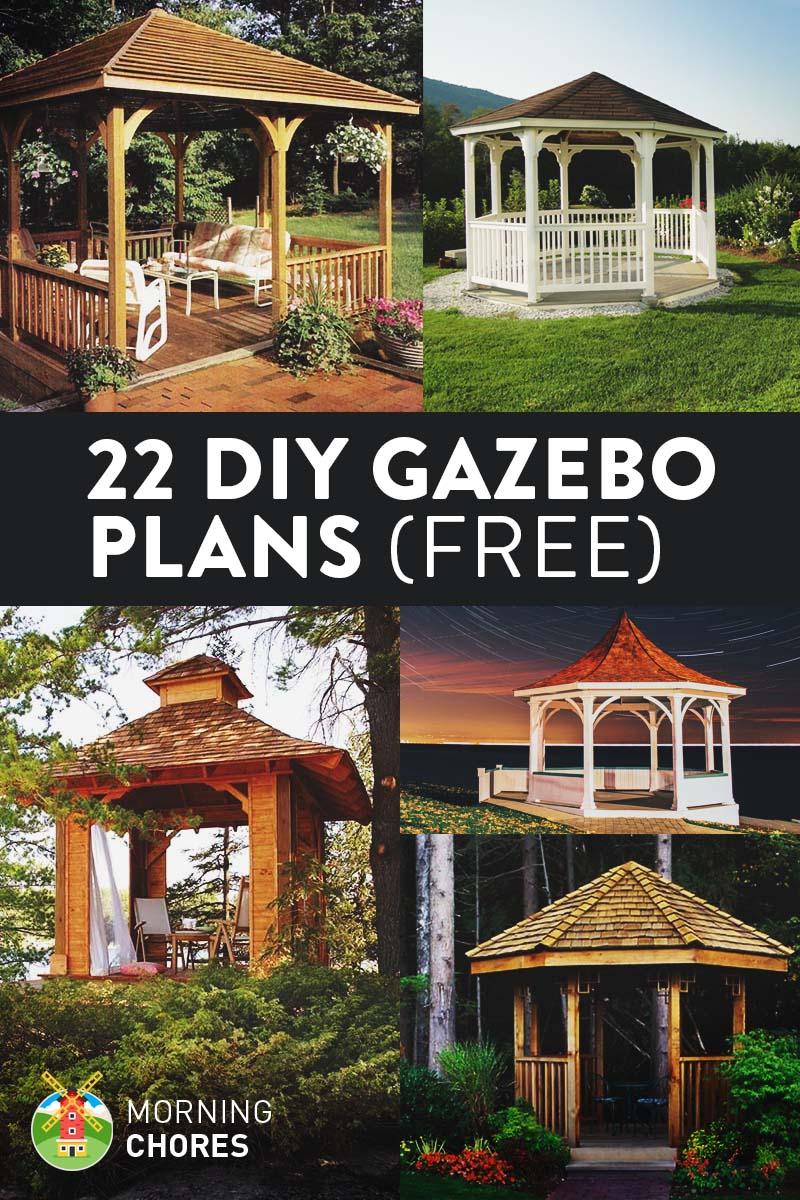 22 Free DIY Gazebo Plans & Ideas to Build with Step-by ...