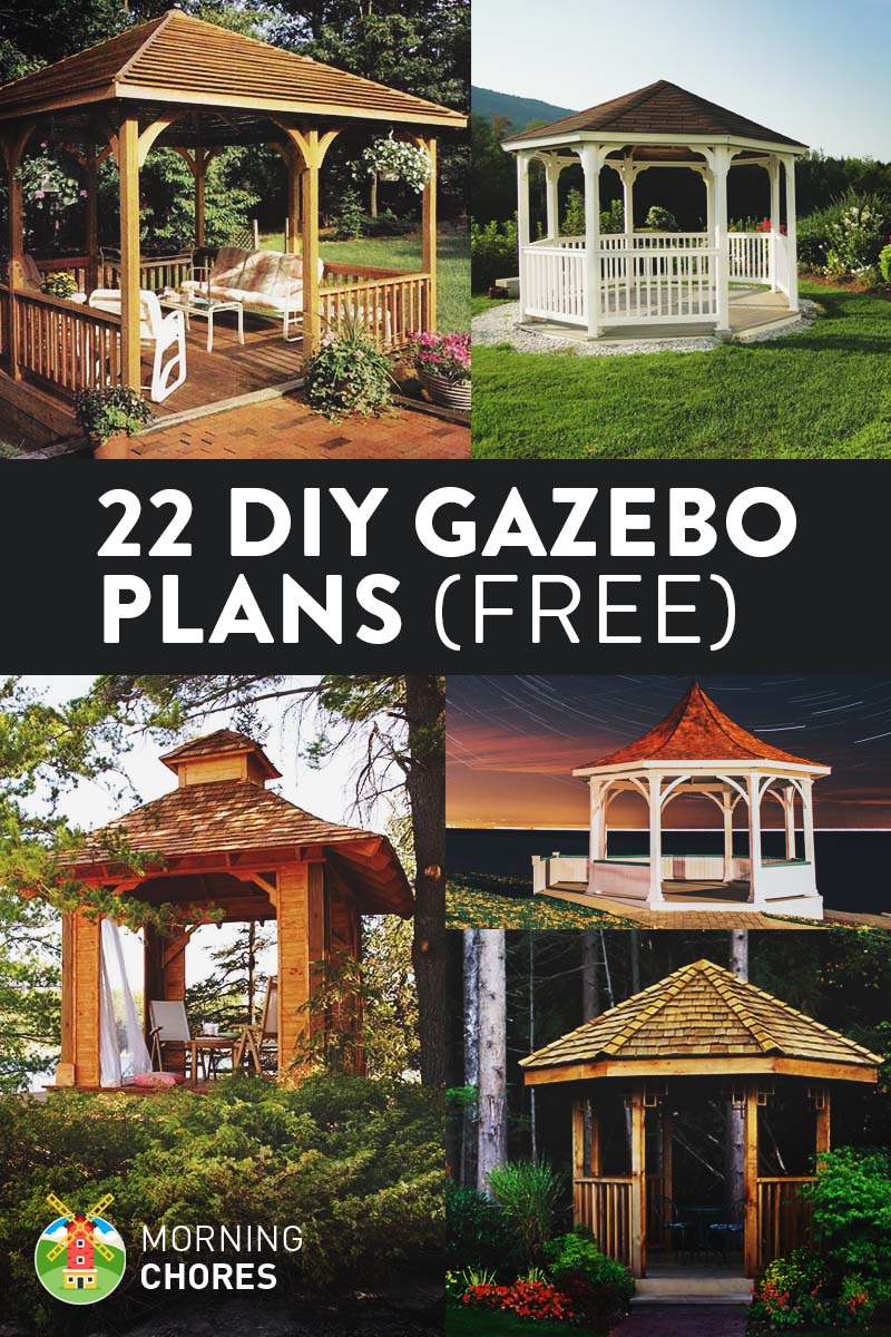 22 free diy gazebo plans u0026 ideas to build with step by step tutorials