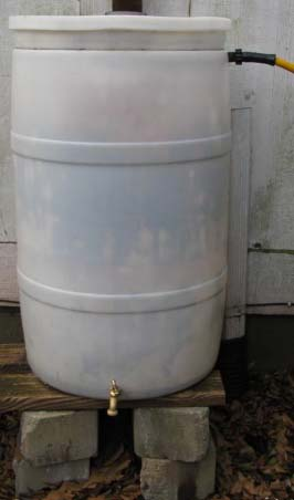 Basic rain barrel