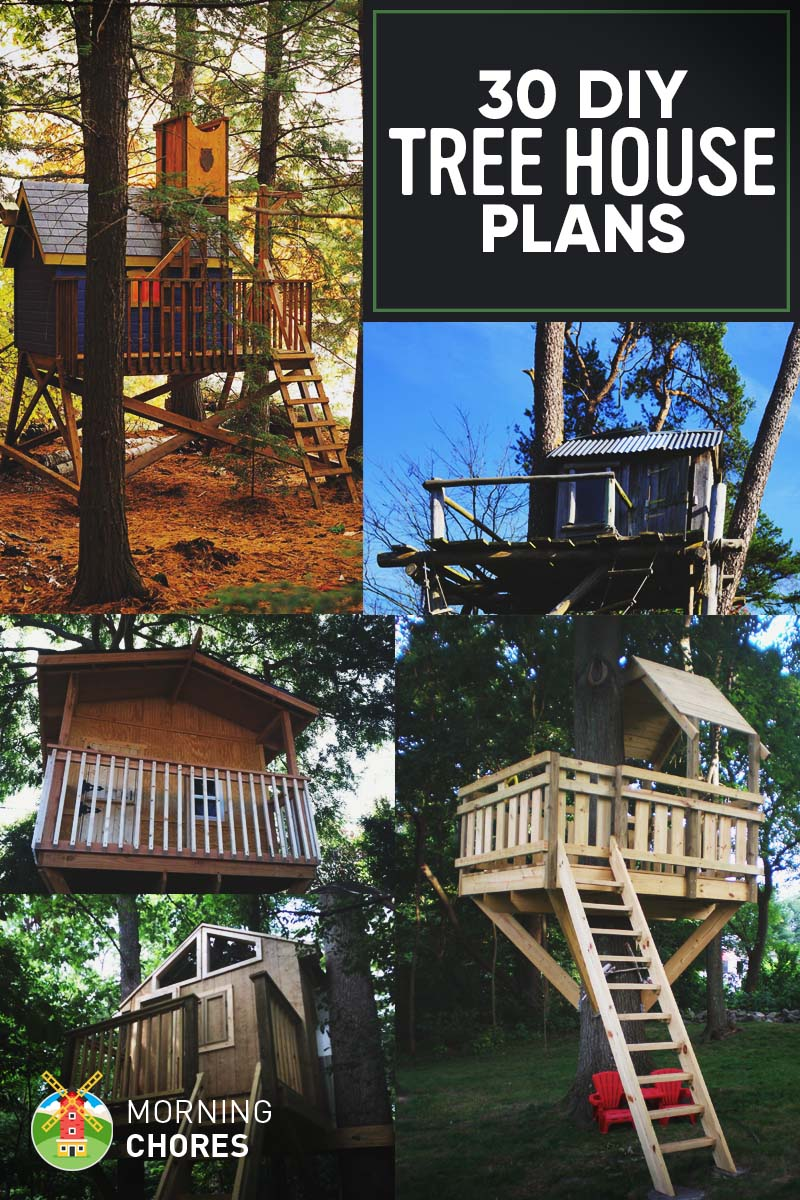 30 diy tree house plans design ideas for adult and kids for Design a house online for fun