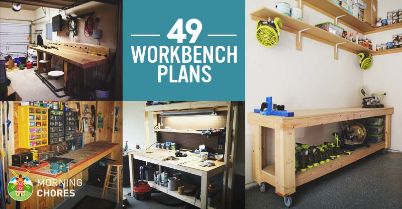 49 Free DIY Workbench Plans & Ideas to Kickstart Your ...