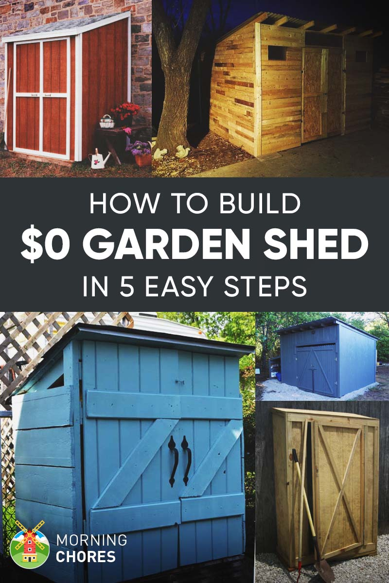 How To Build A Free Garden Storage Shed 8 More