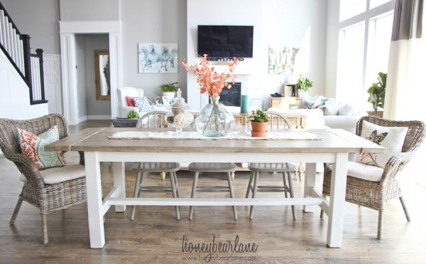 Remarkable 40 Diy Farmhouse Table Plans Ideas For Your Dining Room Free Home Interior And Landscaping Ologienasavecom