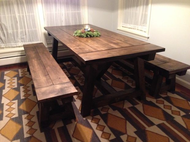 Pleasing 40 Diy Farmhouse Table Plans Ideas For Your Dining Room Free Ibusinesslaw Wood Chair Design Ideas Ibusinesslaworg