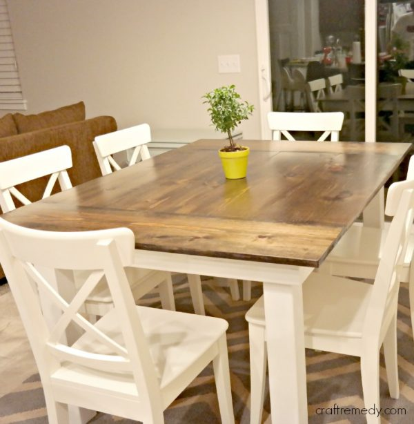 The Simple White Farmhouse Table This Design Is Another That Appears To Be Rather Build Chairs Are A Little More Complex