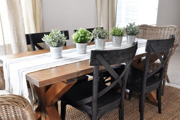 Rustic Farmhouse Dining Room Table Sets: 40 DIY Farmhouse Table Plans & Ideas For Your Dining Room