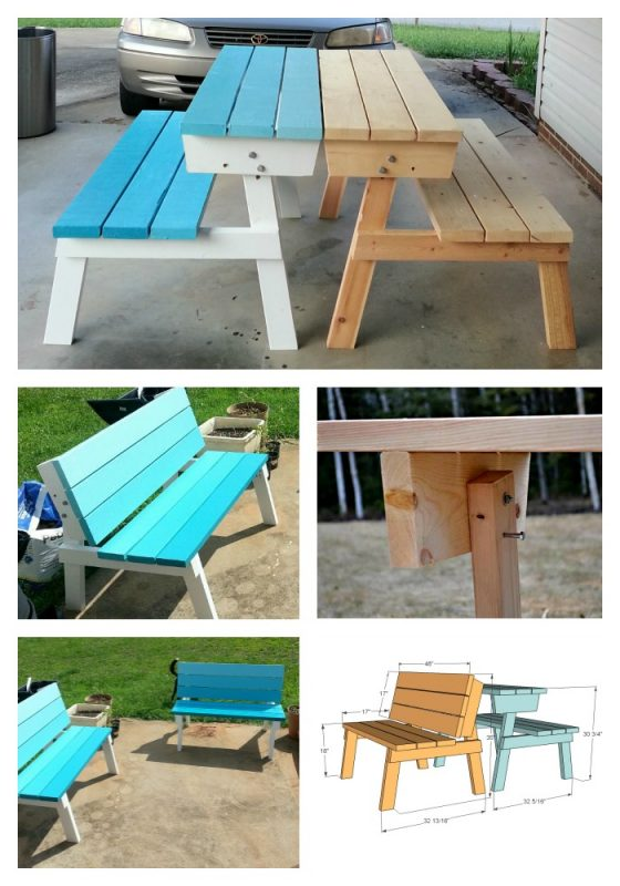 Groovy 50 Free Diy Picnic Table Plans For Kids And Adults Gmtry Best Dining Table And Chair Ideas Images Gmtryco