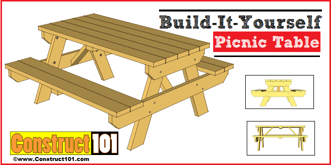 50 Free Diy Picnic Table Plans For Kids And S