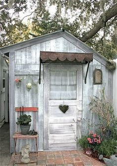 whitewashing garden cottage