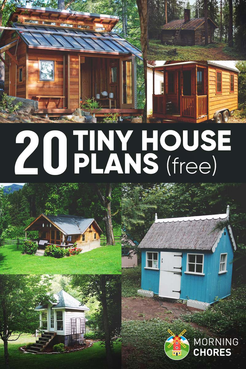 20 free diy tiny house plans to help you live the small for Diy home building cost