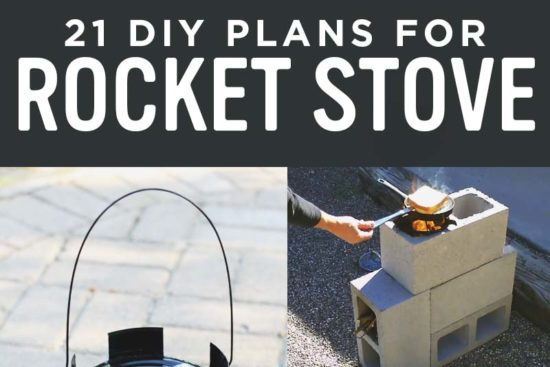 21 DIY Rocket Stove Plans to Cook Efficiently with Wood