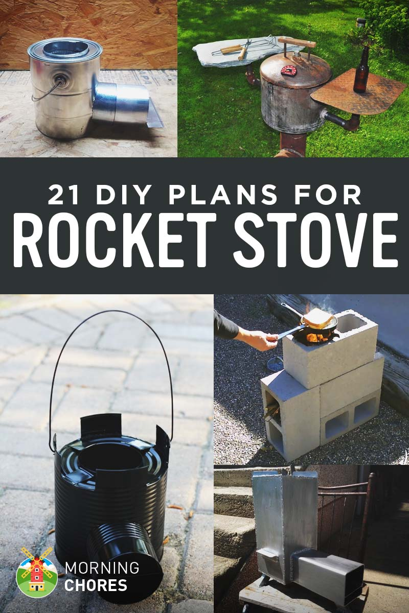 21 free diy rocket stove plans for cooking efficiently for Portable rocket stove plans