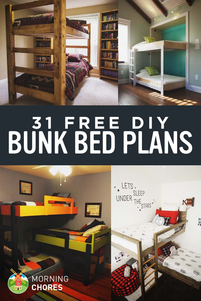 31 diy bunk bed plans ideas that will save a lot of bedroom space - Save spacing bunk bed ...