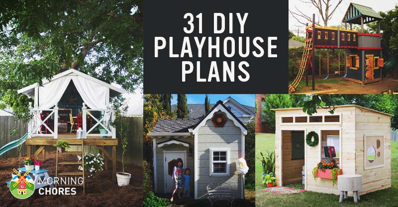 Brilliant 31 Free Diy Playhouse Plans To Build For Your Kids Secret Interior Design Ideas Clesiryabchikinfo