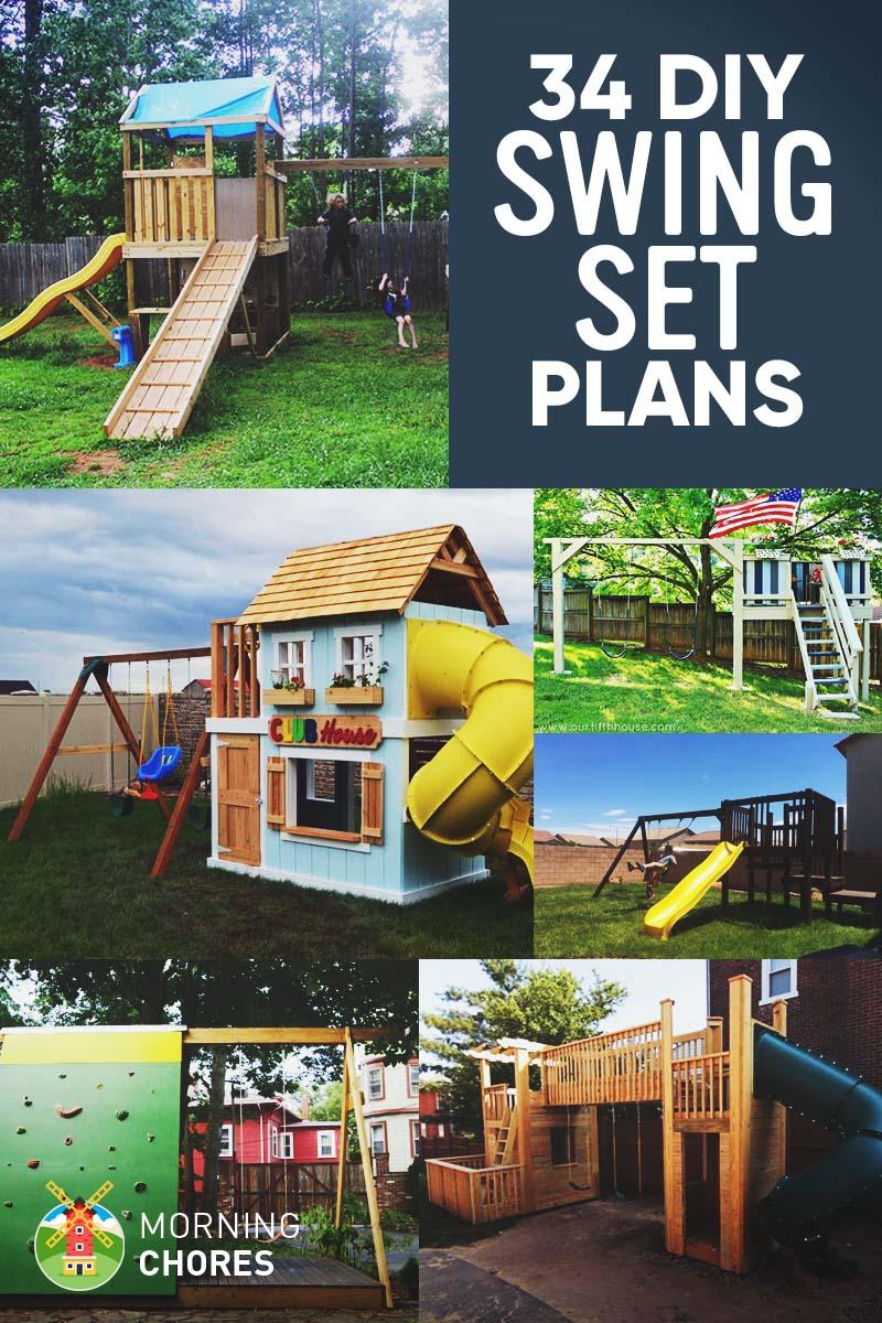 34 Free Diy Swing Set Plans For Your Kids Fun Backyard
