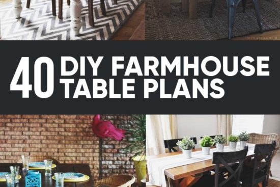 40 Free DIY Farmhouse Table Plans to Give a Rustic Feel to Your Dining Room