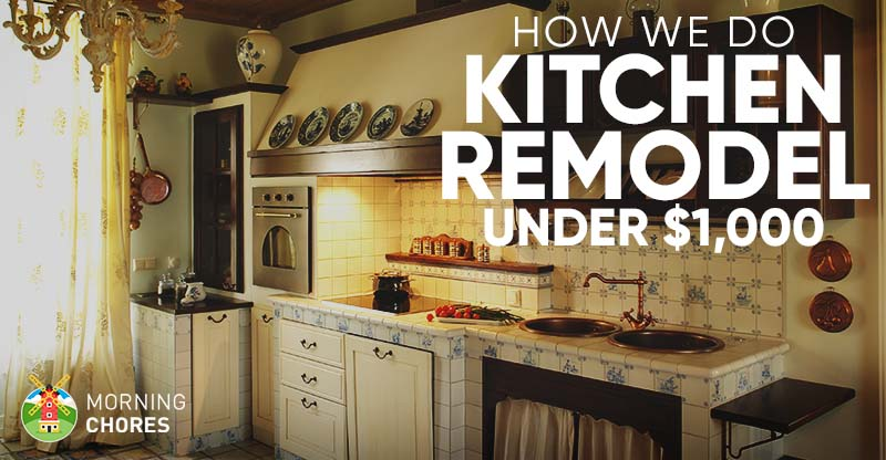 Diy Kitchen Remodel Ideas How We Did It For Under 1 000