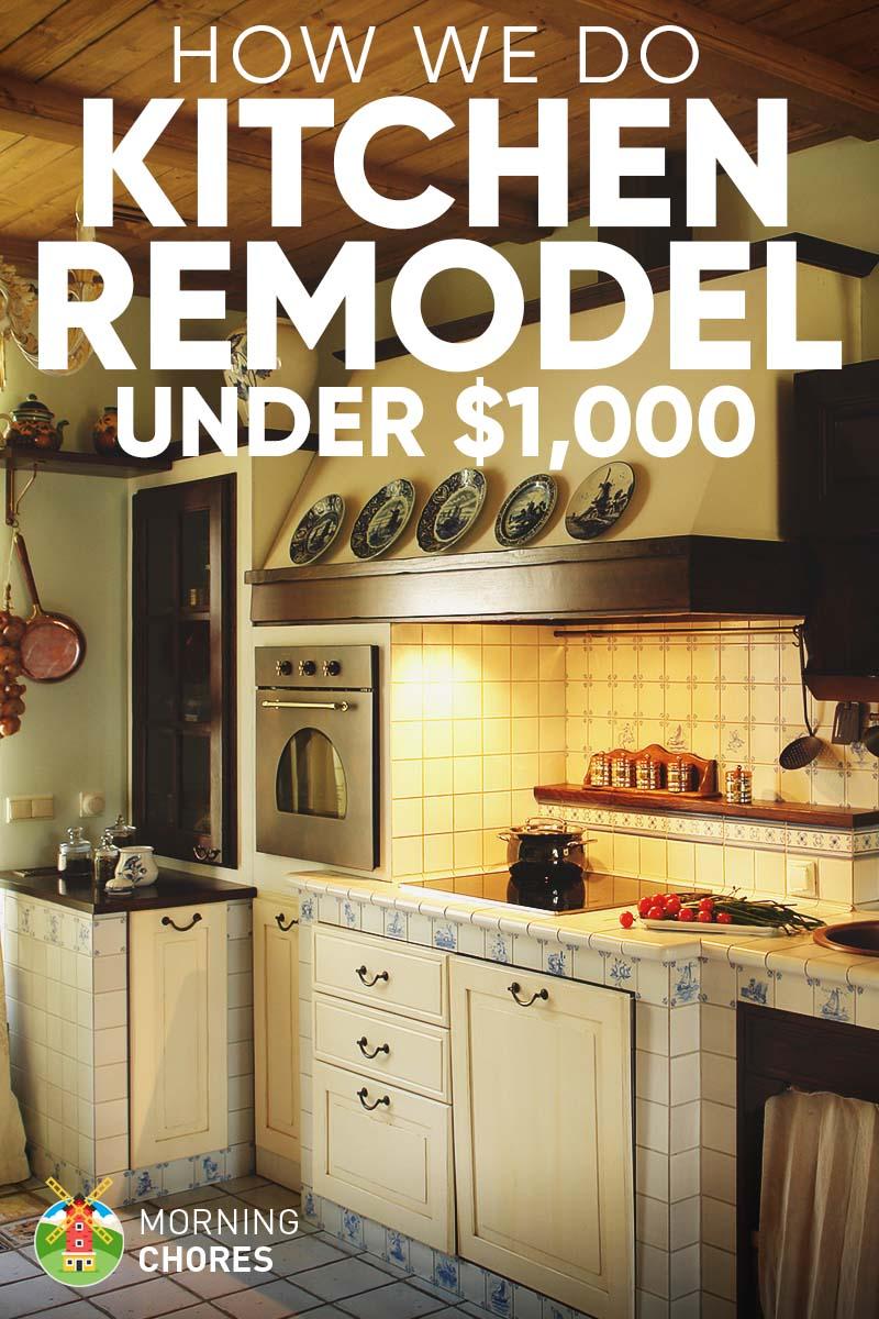 8 DIY Tips For Kitchen Remodel Ideas Under $1000 FB
