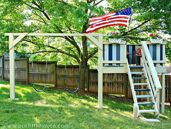 swing-set-and-play-house-combo