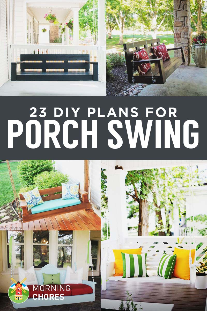 23 free diy porch swing plans - Front Porch Swing