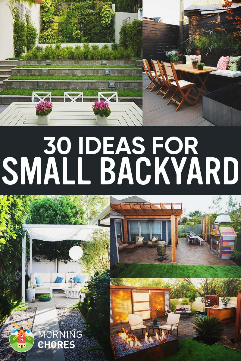 30 Small Backyard Ideas That Will Make Your Backyard Look Big on Small Backyard Patio Designs id=94688