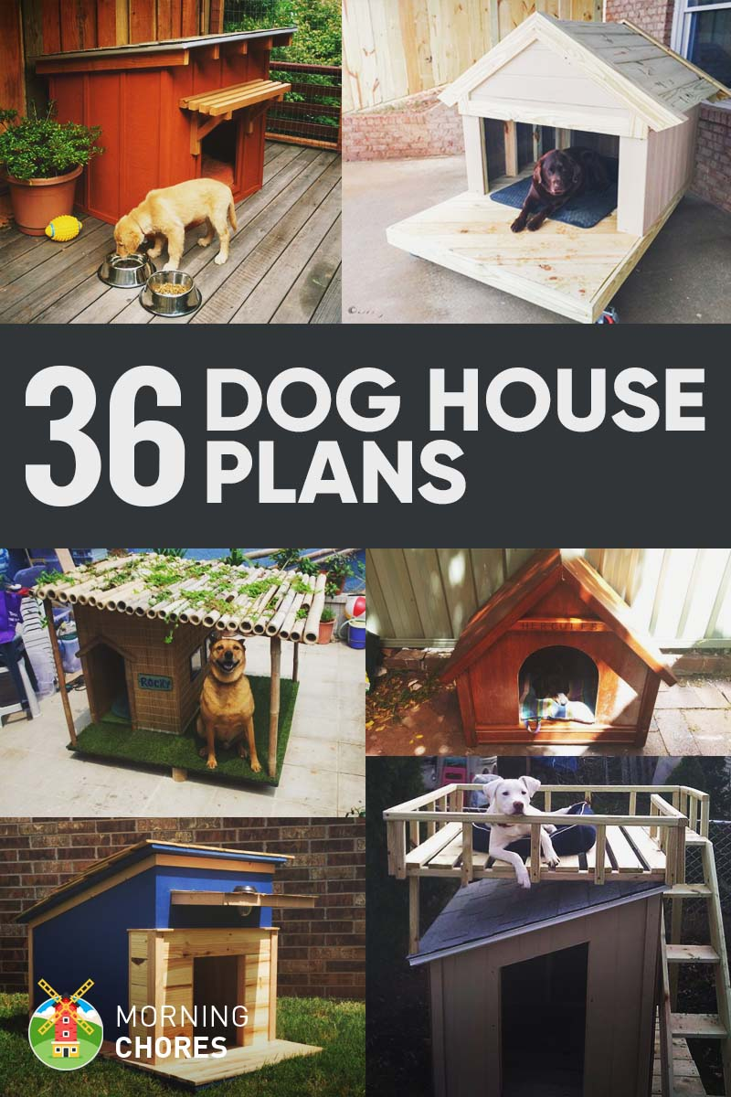 Home Design Ideas For Dogs: 36 Free DIY Dog House Plans & Ideas For Your Furry Friend