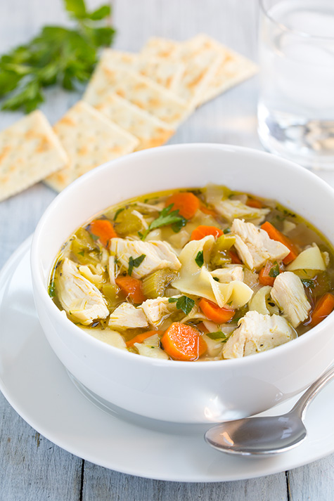 chicken-soup is a great way to cook a tough chicken