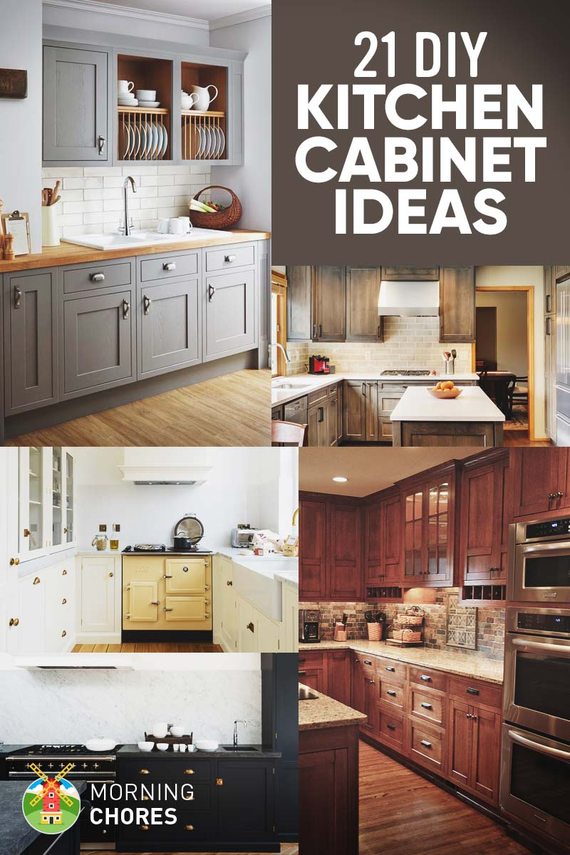 21 DIY Kitchen Cabinets Ideas & Plans That Are Easy & Cheap ... Diy Ideas For Decorating Above Rustic Kitchen Cabinets on diy rustic kitchen cabinet doors, small rustic kitchen island ideas, diy rustic cottage kitchens, diy rustic kitchen backsplash ideas,