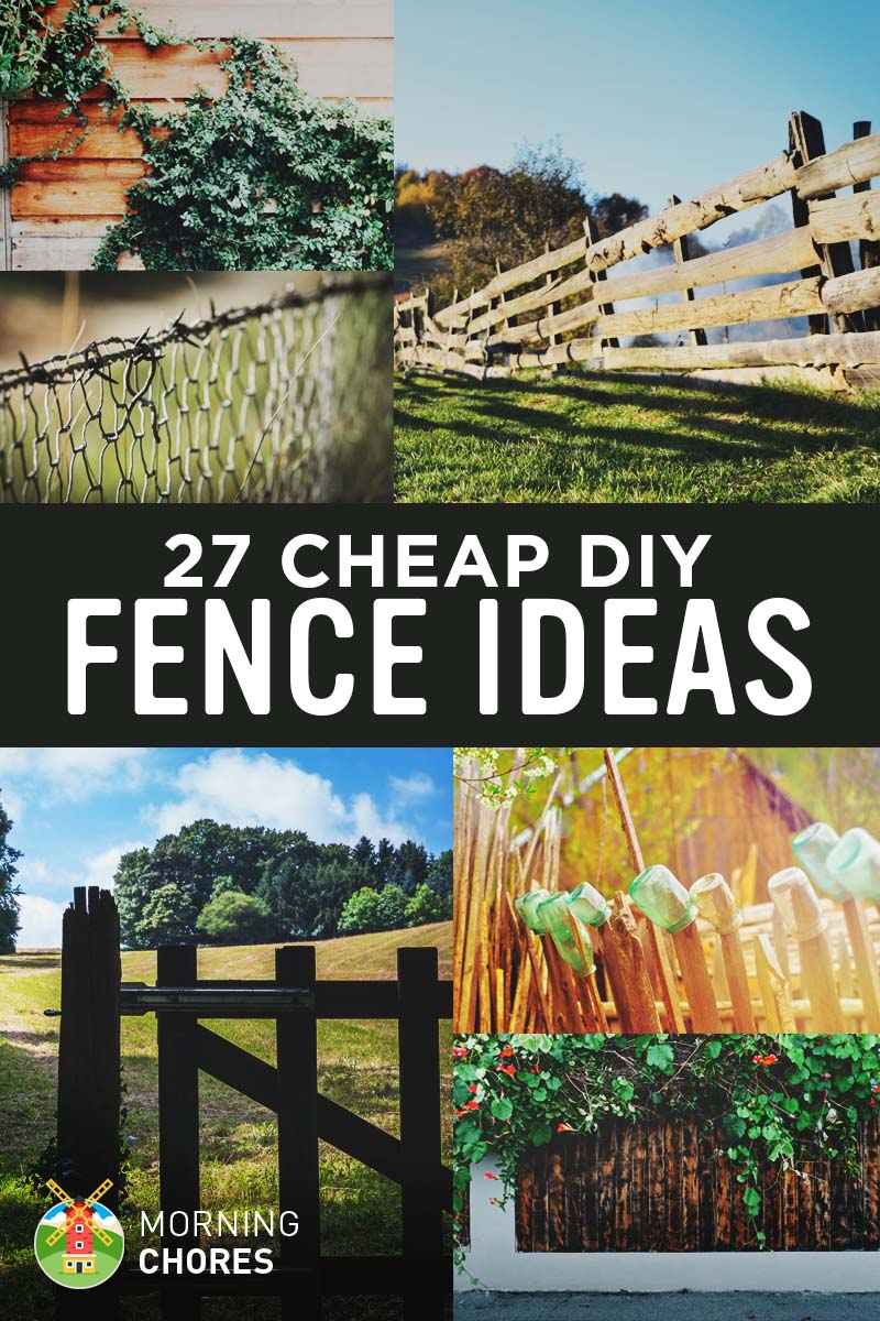 27 cheap diy fence ideas for garden privacy or perimeter