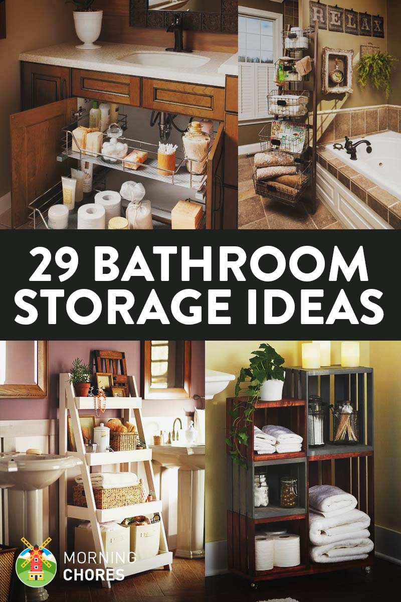 29 Space Efficient Bathroom Storage Ideas That Look Beautiful