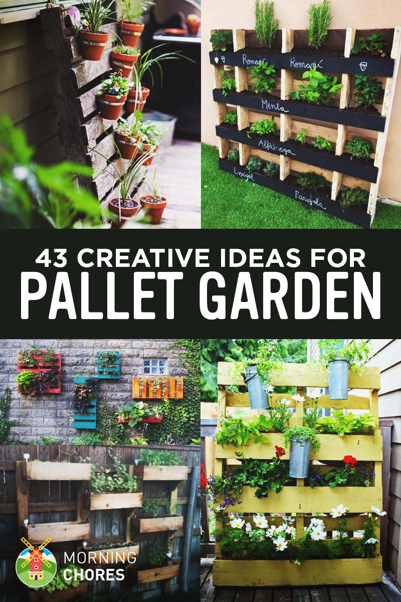 43 gorgeous diy upcycled pallet garden ideas - Garden Ideas With Pallets