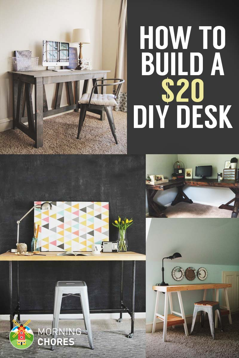 How to build a desk for 20 bonus 5 cheap diy desk plans for What do i need to do to build a house