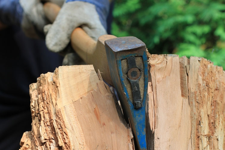 chopping wood as a homesteading skill
