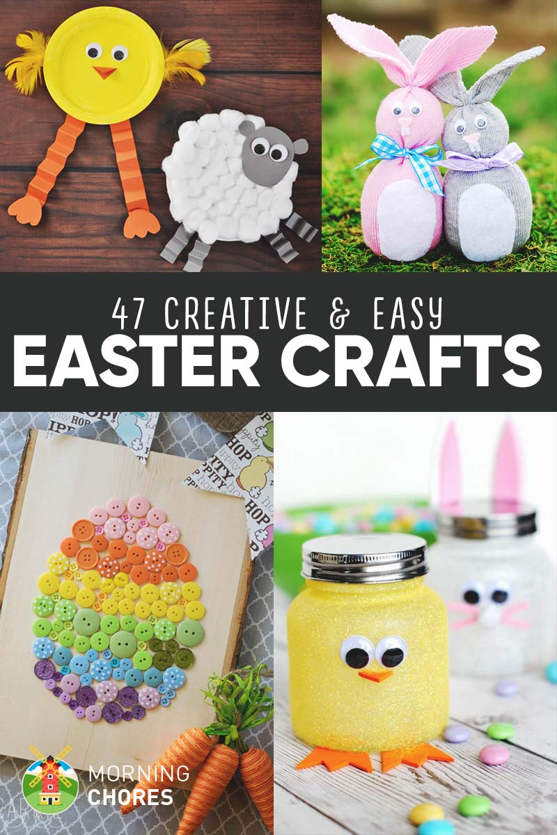 47 Creative Easy DIY Easter Crafts For Your Kids To Make With You