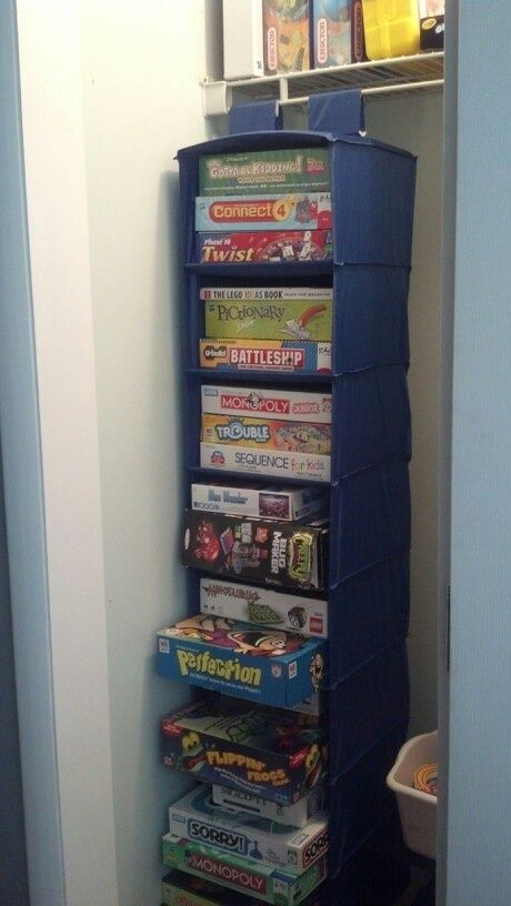 27. Shoe Organizer For Board Games