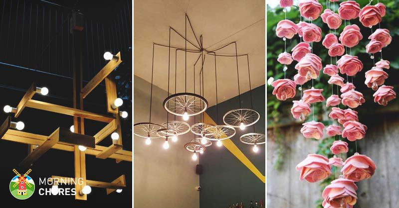 34 beautiful diy chandelier ideas that will light up your home do you remember when chandeliers were only appropriate if you live in a super fancy house solutioingenieria Images